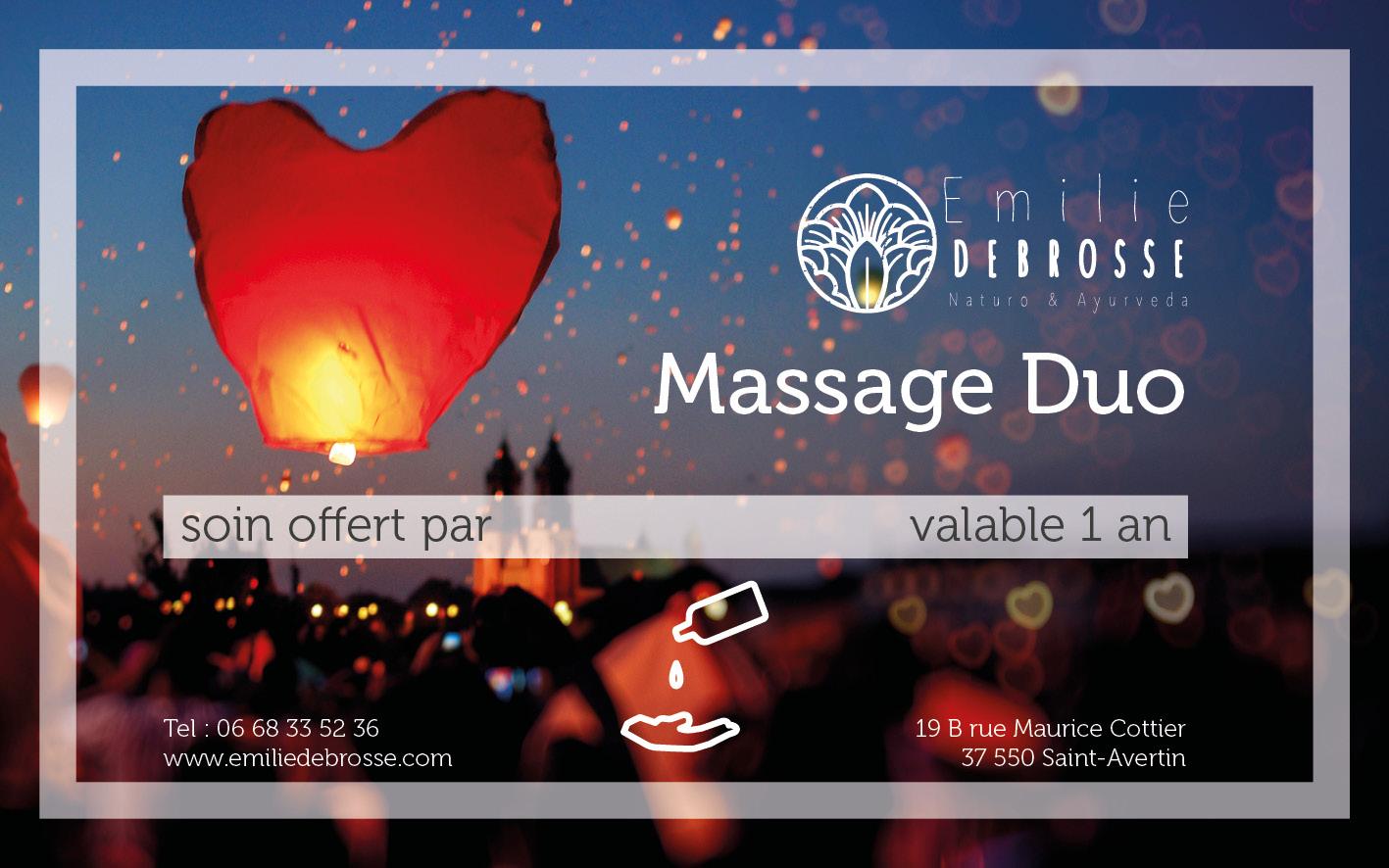 chèque cadeau massage duo