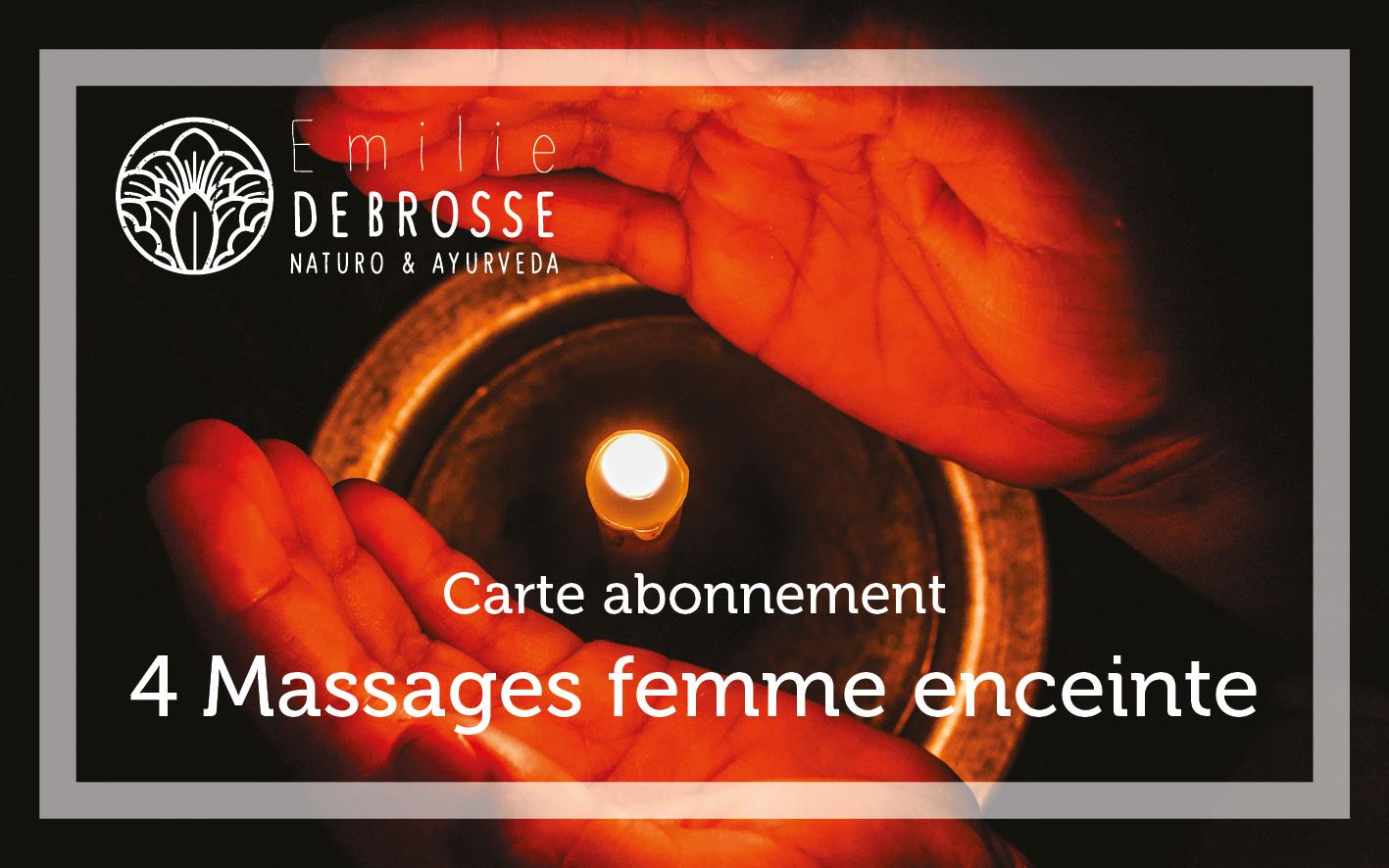 carte de fidélité pour le massage femme enceinte