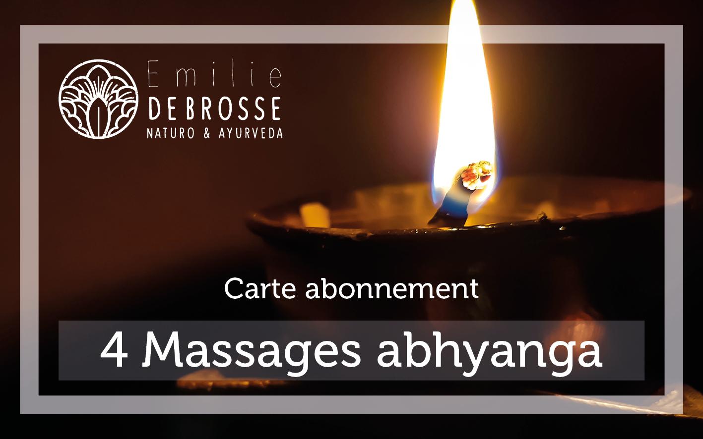 carte de fidélité pour le massage abhyanga